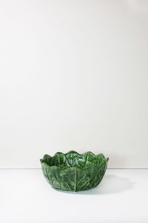 ciotola in ceramica verde stile country fatta a mano
