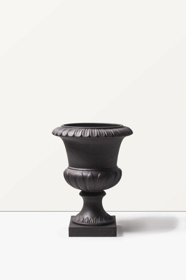 Vaso in ceramica antracite