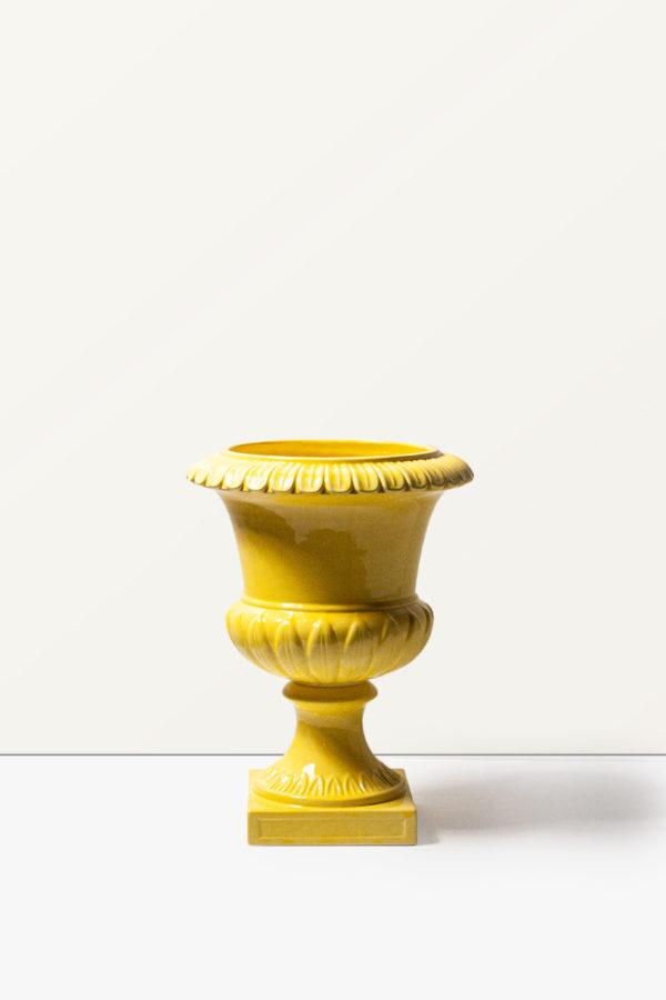Vaso in ceramica giallo