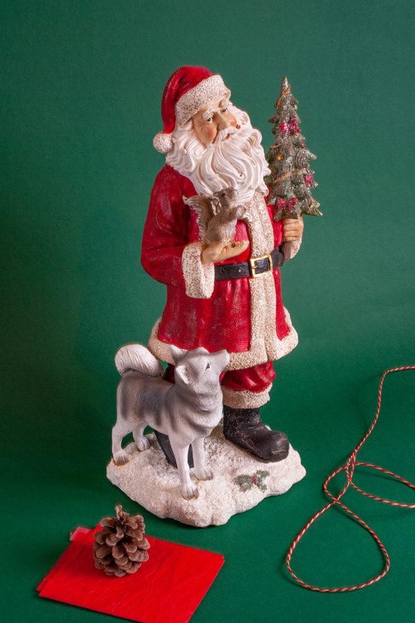Babbo Natale con animali